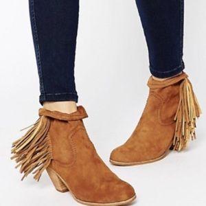 Sam Edelman fringe Louie cowboy bootie boots